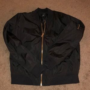 Forever 21 Black Puffy Bomber Jacket